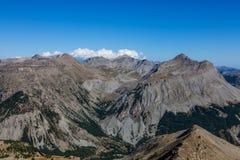 横向在阿尔卑斯 库存照片