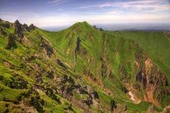 横向在Puy de Sancy Mountain 库存图片