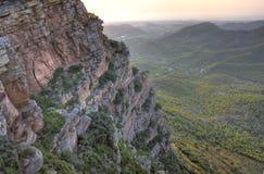 横向地中海多山 库存照片