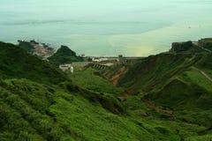 横向多山台湾 库存照片