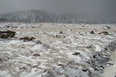 横向多雪的比利牛斯 免版税库存图片
