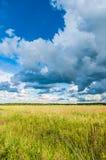 横向大草原天空 库存图片