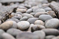 横向小卵石石头 库存照片