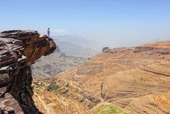横向山也门 库存照片