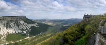 横向山全景照片 库存照片