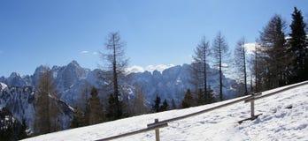 横向山全景 库存照片