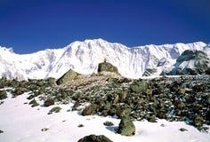 横向山尼泊尔 免版税库存照片