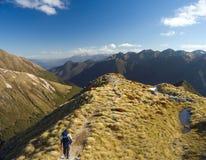 横向山新西兰 库存照片