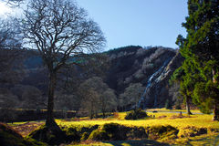 横向山瀑布 库存照片