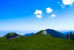 横向山 库存图片