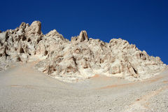 横向岩石天空 免版税库存照片