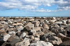 横向岩石 库存图片