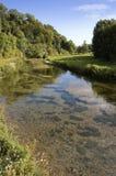 横向平安的河沿 图库摄影