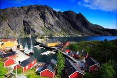 横向挪威海 库存图片