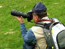 横向摄影师 免版税库存图片
