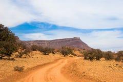横向摩洛哥人山 免版税库存照片