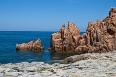 横向撒丁岛 库存图片