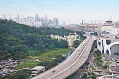 横向新加坡 库存照片