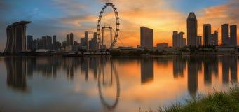 横向新加坡 图库摄影