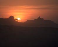 横向日出外面银行北卡罗来纳 库存图片