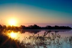 横向早晨夏天 免版税图库摄影
