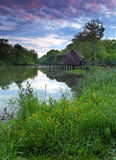 横向春天watermill 库存图片