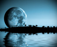 横向月亮 图库摄影