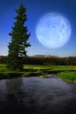 横向月亮 库存照片