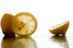 横向柠檬 免版税库存图片