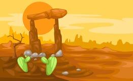 横向沙漠 图库摄影
