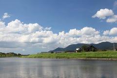 横向河包围 库存照片