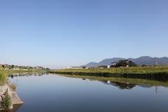 横向河岸土地所有者河 库存照片