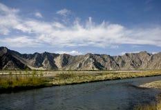 横向河 库存图片