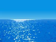 横向海洋 免版税库存图片