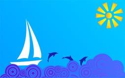 横向海运 免版税库存图片