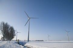 横向涡轮包缠冬天 免版税库存图片