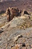横向火山的tenerife 图库摄影