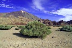 横向火山 免版税图库摄影
