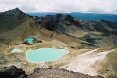 横向火山 库存图片