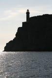 横向灯塔海运 免版税库存照片