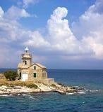 横向灯塔美丽如画的海运 免版税图库摄影