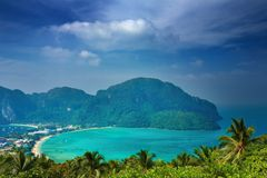 横向热带的泰国 图库摄影