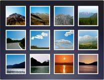 横向照片设置了vectorized 免版税图库摄影