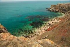 横向石海岸保加利亚 库存图片