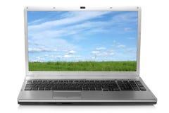 横向笔记本屏幕 免版税库存照片