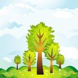 横向结构树向量 库存例证