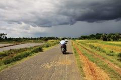横向缅甸风暴 免版税库存照片