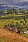 横向罗马尼亚农村 库存照片