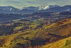 横向罗马尼亚农村 免版税库存图片