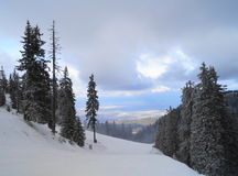 横向罗马尼亚冬天 免版税库存照片